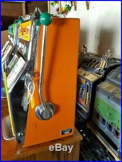 Fitzgerald Buckaroo Slot Machine 25 Cent with Stand 4 Reel