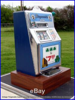 Fitzgeralds Casino Jennings Nickel 5 Cent Slot Machine 1960's Made By Baldecchi