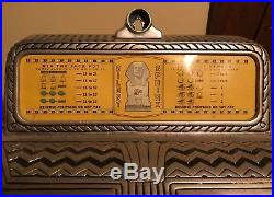 Five cent Caille Brothers' Silent Sphinx antique 1932 slot machine