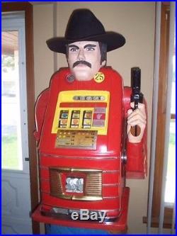 Frank Polk style Cowboy. 25 Mills Slot machine