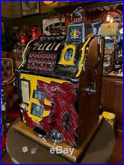 Fully Restored 1932 MILLS 25 Cent Lion's Head Slot Machine Watch Video