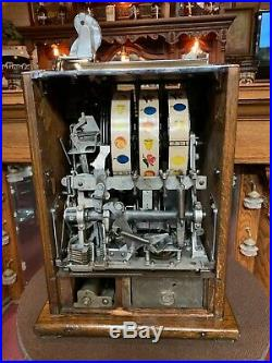 Fully Restored 1932 MILLS 5 Cent Lion's Head Slot Machine Watch Video