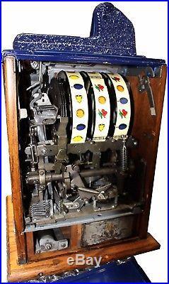 Fully Restored Antique Mills 25cent Castle Front Slot Machine