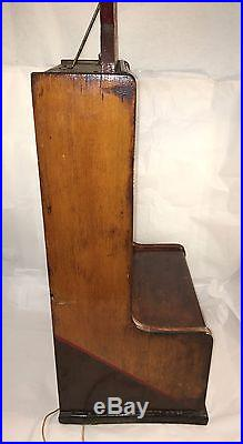 GRAPHIC Antique Penny Arcade Tabletop Coin Op Machine Game Exhibit Supply