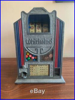 Great Condition Antique Whirlwind Gum Ball Table Top Trade Stimulator