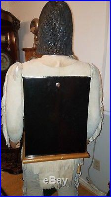 Hand Carved Character Native American Indian Chief Mills War Eagle Slot Machine