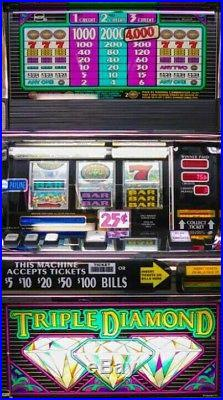 IGT triple diamonds quarter slot machine