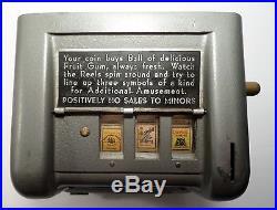 IMP Trade Stimulator Gum Ball Vendor Vintage 1 Cent 3 Reel Cigarette 40s