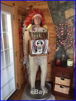 Indian Slot Machine, excellent working condition, long head dress