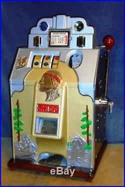 JENNINGS $1 DOLLAR HUNTING SCENE antique slot machine, 1935