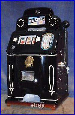 JENNINGS 10c BLACK HAWK antique slot machine, ca 1946