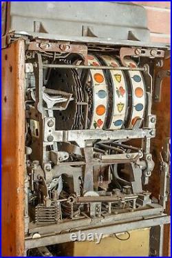 JENNINGS 10c SILVER CLUB antique slot machine, ca the 1930s