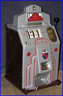 JENNINGS 25-cent SILVER CLUB antique slot machine, 1940