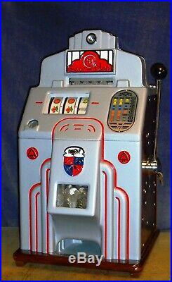 JENNINGS 5c SILVER CHIEF antique slot machine, ca 1937