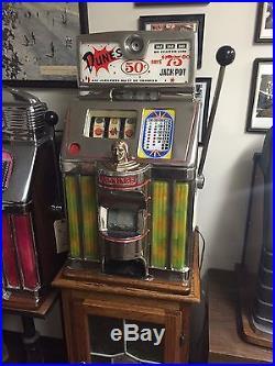Jennings Governor 50 Cent Slot Machine Dunes Las Vegas Restored