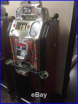 Jennings Super Deluxe Club Chief 5 Cent Slot Machine In Original Floor Console