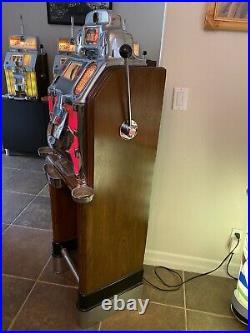 Jennings $1.00 Club Chief Casino Slot Machine Light Up in Console