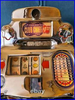 Jennings $1 dollar Club Chief Light Up Chinese Front Slot Machine Squires Corrie