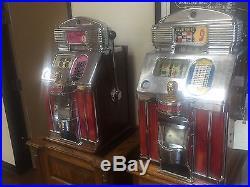 Jennings 25 Cent Super Deluxe Sun Chief Light Up Slot Machine