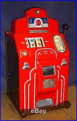 Jennings 25-cent DIXIE BELLE antique slot machine, 1939