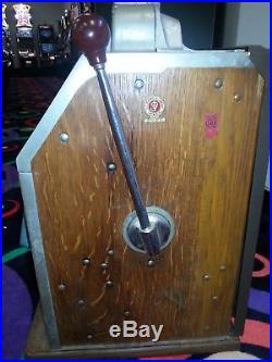 Jennings 4 Star Indian Nickel Slot Machine