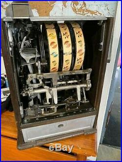 Jennings 5 Cent Dutch Boy/girl Slot Machine Restored Original