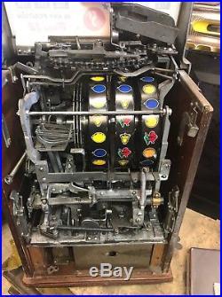 Jennings 5 Cent Governor Tic Tac Toe Slot Machine