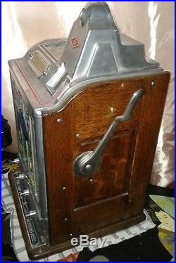 Jennings 5 Cent Today Vendor Antique Slot Machine Coin Operated