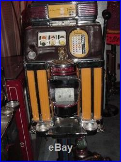 Jennings 50 cent Light-Up Slot-Machine / Top Condition