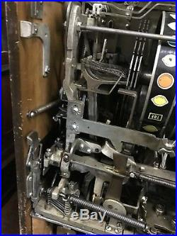Jennings Chief 25 Cent Light Up Lucky Lady Slot Machine