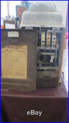 Jennings Chief 5 cent Tic Tac Toe Slot Machine