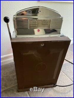 Jennings Club Chief Las Vegas Casino Dime Antique Slot Machine Sun Chief