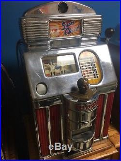 Jennings Dollar Sun Chief Antique Slot Machine Rare