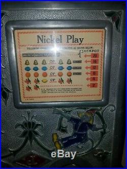 Jennings Dutch Boy 5 Cent Coin Op Antique Slot Machine