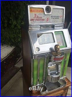 Jennings Hacienda 5 Cent Governor Light Up Slot Machine