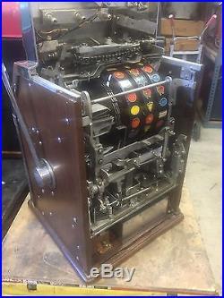 Jennings Hacienda Star Chief 5 Cent Governor Light Up Slot Machine