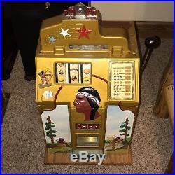 Jennings Hunting Chief Antique Slot Machine Beautiful