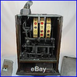 Jennings Poinsettia 10c Slot Machine, Circa 1920's Antique Dime Coin-Op VTG