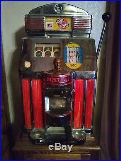 Jennings Quarter Sun Chief Antique Slot Machine