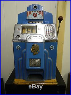Jennings Silver Chief Antique Slot Machine