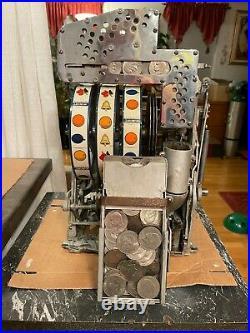 Jennings Silver Dollar Mechanical Slot Machine Antique 1 One Dollar