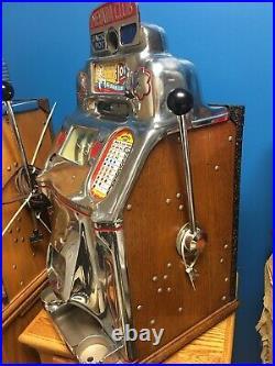 Jennings Silver Dollar Nevada Club Antique Slot Machine W Jackpot Rare Dollar