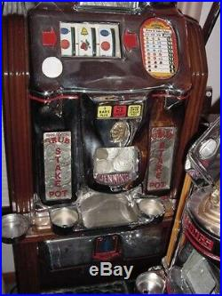 Jennings Silver Dollar Prospector Console Slot-Machine / Top Condition