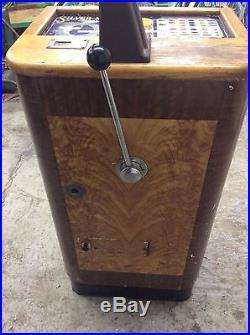 Jennings Silver Moon Console Slot Machine Antique Vintage