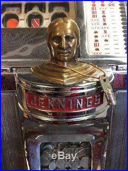 Jennings Slot Machine Bingo Bell 1Pull 5 Cents 27.25 H