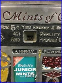 Jennings Slot Machine, Original Side Vendor, Future Pay, Mints of Quality RARE