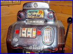 Jennings Slot Machine Prospector Console 1948 25 cent original condition, NICE