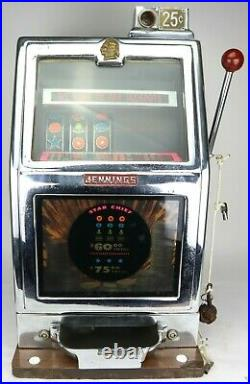 Jennings Slot Machine STAR CHIEF Working Vintage Antique for Display Use Only