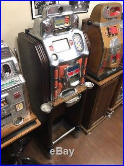 Jennings $ Slot Machine Super Deluxe Club Chief Light Up Factory Console