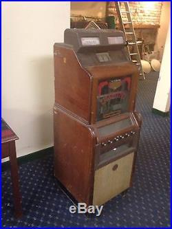 Jennings Slot Machine Vintage 1937 Antique 5-10 & 25 Cent Cigarette Dispenser